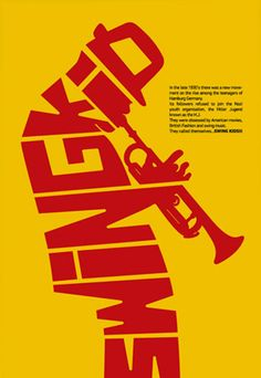 """For the second Poster Monday we have a poster coming from Greece from Corn Studio entitled """"The Swing Kid"""". Corn Studio is an independent design studio based in Athens, Greece, providing outstanding work with custom design solutions."""
