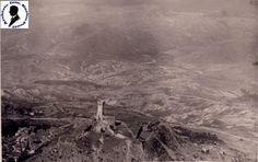 Radicofani (Siena) - Rocca e sfondo con Monte Amiata - Agosto 1931