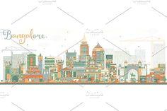 #Abstract #Bangalore #Skyline  by Igor Sorokin on @creativemarket