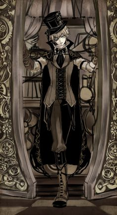 WOOOOOOOAAAAAH. If Britain walked into Phantomhive Manor, he would dress like this!