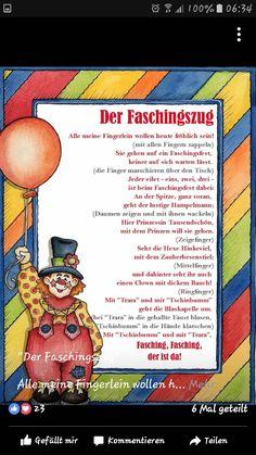 Fasching Fingerspiel Kindergarten Portfolio, Diy Crafts To Do, Nursery School, Literacy, Blog, Kids, Party, Crowns, Poems For Children