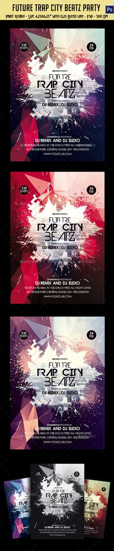 Future Trap City Beatz Party Flyer