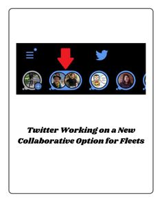 Twitter is working on another iteration of its new 'Fleets' tool, which would enable users to create collaborative Fleets, its version of Stories. #socialmediaupdates Social Media Updates, Social Media Marketing, Photo And Video, Digital, Create, News, Twitter, Instagram