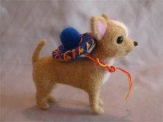 Needle Felted Chihuahua with Sombrero by Laurie Valko, via Flickr