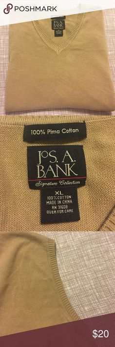 Men's Jos. A. Bank XL Pima Cotton Vest 100% Pima Cotton, Name Brand, Vest. Jos. A. Bank Suits & Blazers Vests