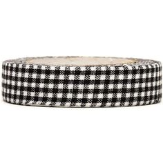 pretty black-white checkered Fabric Deco Tape