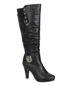 Look at this Black Button Sandra Boot on #zulily today!