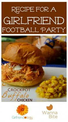 Crockpot buffalo chicken for your tailgate party or watch party at home...  http://girlfriendology.com/9820/recipe-for-a-fun-football-friends-party-crockpot-buffalo-chicken/