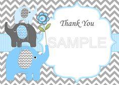 Boy Baby Shower Invitation Boy Elephant Baby Shower por diymyparty