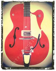 visit: etsy.com/shop/artfulmusicianNY for great guitar art, and gift ideas for boyfriends, and husbands and rock n roll chicks everywhere that appreciate music  11 x 14 prints $30.00 with free shipping to usa