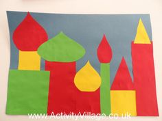Russian Cityscape Collage and other multicultural art projects from around the… Around The World Crafts For Kids, Around The World Theme, Holidays Around The World, We Are The World, Art For Kids, Kids Fun, Multicultural Crafts, International Craft, Travel Crafts
