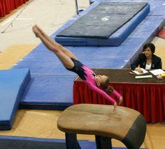Gymnastics-Middletown, NJ: PhotoID-299252 by LocalReplay, via Flickr  gymnast on the vault, women's gymnastics WAG
