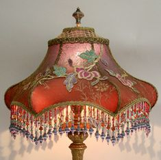 90 Best Beaded Lampshades Images Lampshades Victorian