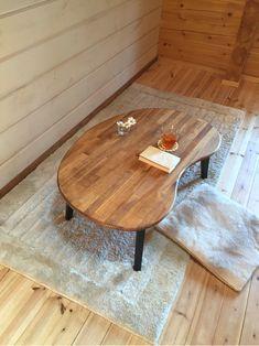折りたたみ そら豆 ローテーブル (集成材)