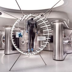 Ministry of Design completes futuristic sports store in Singapore Airport Showroom Interior Design, Futuristic Design, Exhibition Space, Retail Space, Retail Shop, Retail Design, Store Design, Lighting Design, Singapore
