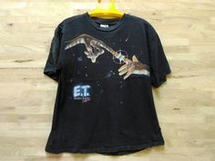 Vintage 90s E.T. Film ET Movies Universal Studios California Alien Made In USA T Shirt by ArenaVintage