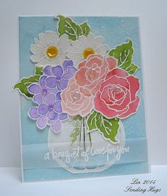 Stampendous Cling Build a Bouquet Stamp Set - Google Search