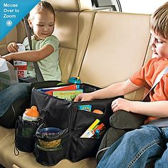 car organizer - easy for to reach and keep organized...great idea to also use your own diaper bag!