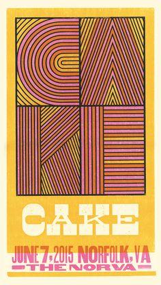 cake | brad vetter #design #poster #gig