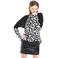 Run The World Jumper Black & White Snow Leopard Jumper by Paint It Red Black Jumper, Snow Leopard, Cardigans For Women, Warm, Paint, Running, Black And White, Best Deals, Red