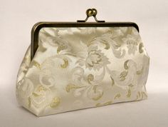 Bridal Clutch Purse Ivory and Gold Design Clutch by TheHeartLabel, £33.45