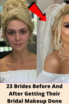 23 #Brides Before And After #Getting Their #Bridal #Makeup Done