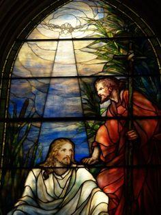 Description: Baltimore, Maryland (MD): Brown Memorial Park Avenue Presbyterian Church: The Baptism of Christ (1916, Tiffany Studios)