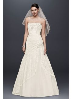 A-line Side Split Wedding Dress with All Over Lace 7YP3344