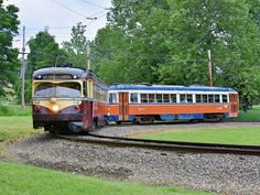 Red  Arrow  trolleys  at  Pennsylvania  Trolley  Museum