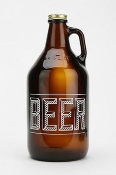 Beer Growlers for the tasting. Some six packs and the rest should be large bottles and growlers