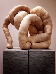 """Sarah Lucas """"NUDS"""" 2009 from post """"Sarah Hoolian? Who the hell if Sarah Hoolian? Sculpture Textile, Soft Sculpture, Abstract Sculpture, Lucas Y Sara, Sculpture Projects, A Level Art, Feminist Art, Textiles, Thing 1"""