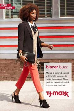 Click here to go to T.J.Maxx's Facebook page for fall fashion inspiration.   - ELLE.com