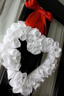 DIY, cheap project, great for Valentines Day against my red front door!