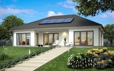 SH 146 B von ScanHaus   Bungalow   Walmdach House Floor Design, Small House Design, Village House Design, Village Houses, 4 Bedroom House Designs, Town Country Haus, House Plans South Africa, Living Haus, Modern Bungalow House