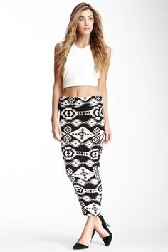 Veronica M Printed Maxi Skirt by Non Specific on @HauteLook
