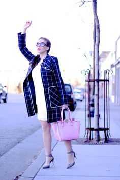 Striped Trench Coat + White Dress | Style Gala