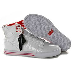 the latest 6b1c9 f6df2 Supra Skytop White Red Leather Men Footwear Supra Shoes, Men s Shoes, New  Jordans Shoes