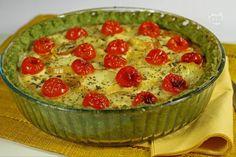 La torta salata tricolore è un antipasto invitante, colorato e molto raffinato.