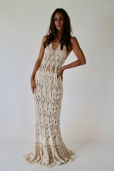 ANCESTRA - Isa Catepillán Blouse Dress, Boho Dress, Knit Dress, Dress Skirt, Crochet Formal Dresses, Crochet Wedding Dresses, Crochet Cardigan, Crochet Lace, Modern Crochet