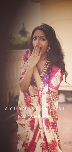 Saree by Ayush Kejriwal For purchases email me at ayushk@hotmail.co.uk or whats app me on 00447840384707. We ship WORLDWIDE