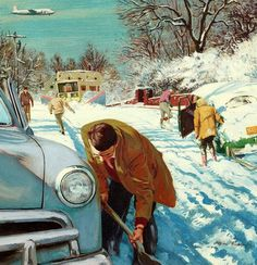Suburban Dig-Out, art by Austin Briggs.