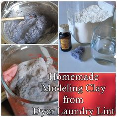 Homemade Modeling Clay from Dyer Laundry Lint craft project Homesteading  - The Homestead Survival .Com