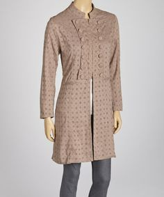 Take a look at this Brown Eyelet Tunic by Papillon Imports on #zulily today!