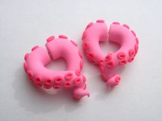 Hello Kitty Tentacle Earring FAKE Gauge by deceptions on Etsy, $20.00
