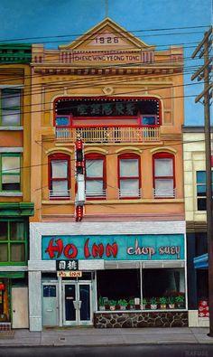 "Will Rafuse -  HO INN - CHOP SUEY, 2015; 40"" x 24""  Oil on canvas"