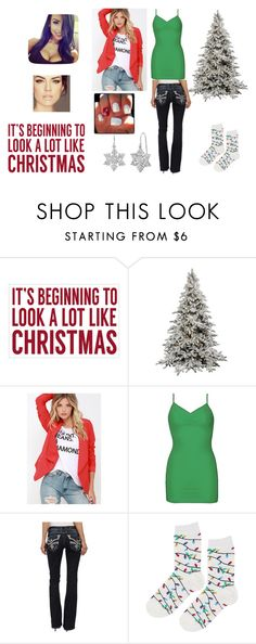 """""""It's Beginning To Look A Lot Like Christmas"""" by backwoodsbeautyqueen94 on Polyvore featuring Sixtrees, Lulu*s, BKE, Rock Revival, Topshop and Amanda Rose Collection"""