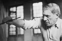 Picasso painting Guernica, Close-up, Paris, Grand-Augustins, 1937, by Dora Maar