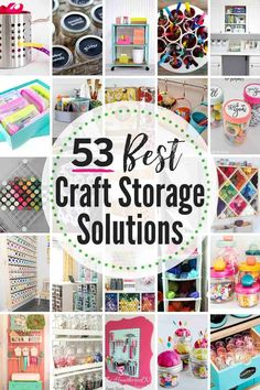 53 Best Creative Craft Storage Ideas! Get those crafting supplies organized in a flash with these great DIY organization hacks! #craft #crafting #craftstorageideas #craftorganizationideas #craftroomorganization #craftroomorganizationideas Ribbon Organization, Ribbon Storage, Craft Organization, Paper Storage, Box Storage, Organizing Ideas, Craft Storage Solutions, Craft Room Storage, Diy Yarn Storage Ideas