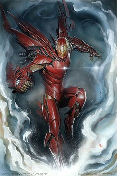 Invincible IRON MAN #1 Variant Cover Acrylic paint and oil pastels on illustration board.