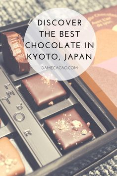 Kyoto is know for its temples and afternoon tea, and increasingly for it's chocolate. In this complete guide to Kyoto's chocolate shops, I'll personally treat you to some of the best chocolate in Japan. | #kyoto #japan #hyogo #travel #food #foodie #guide #local #truffles #bonbons #chocolate #chocolat #chocolatier #asia #east #unique
